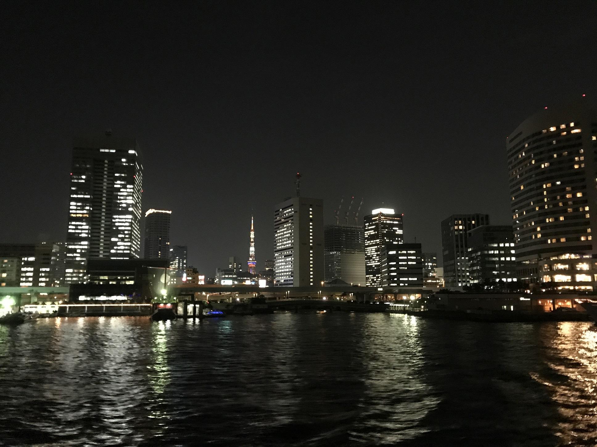 ③夜の海 東京タワー