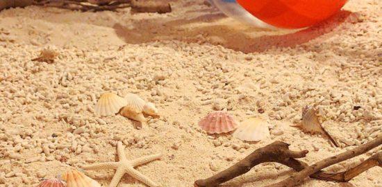 ⑩砂に書いた「海プロ」の文字